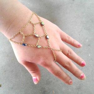 Net Slave Bracelet Rainbow Gem Hand Chain Bracelet